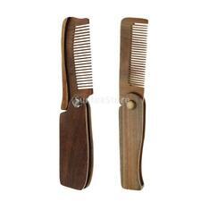Sandalwood Folding Travel Hair Moustache Beard Comb Pocket Size for Men