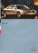 Audi A8 Prospekt 6/95 brochure 1995 Broschüre Autoprospekt Auto PKWs Deutschland