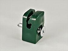 Spanndrahthalter Drahthalter Grün mit Schraube sehr robust Maschendrahtzaun PE
