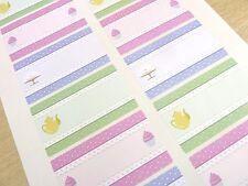 Coloré Home Baking Autocollants Write-sur les étiquettes pour Gâteaux Biscuits Tins & cases