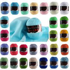 1pc 50g Milk Cotton 3ply Yarn Soft DIY crochet Wool knitting Thread J2MX0010