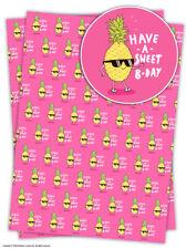 Brainbox Candy Confiserie b-jour PAPIER EMBALLAGE CADEAU feuilles Anniversaire