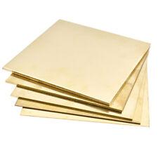 Brass Metal Thin Sheet Plate Shim 100x100mm Metalworking 0.8mm/1mm/1.5mm/2m Tbb