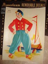 Vintage American Water Decal DUTCH SAILOR BOY #402-A