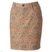 SONOMA life + style Tannin Print Modern Fit Stretch Denim Skirt