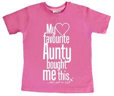 """Dirty Dedos CAMISETA """"mi favorito Tía COMPRAN esta fresco Aunt Auntie """"niece..."""""""