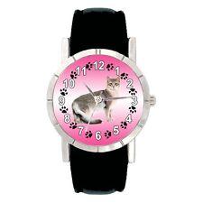Somali Kitten Cat Mens Ladies Water Resistant Leather Band Wrist Watch SA2714