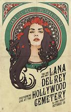 Lana Del Rey Music Art Poster 8x12 24x36 24x43