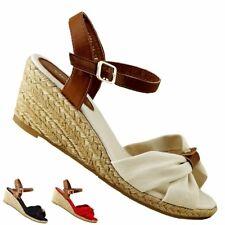 Damen Sommer Pumps Keilabsatz Wedges Sandaletten 3 FARBEN 36-41