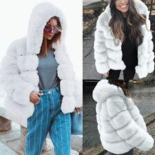Women Faux Mink  Winter Hooded New Faux Fur Jacket Warm Thick Outerwear Jacket
