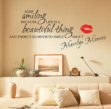 MARILYN MONROE Adhesivos de Pared Frases Pegatinas pared W55
