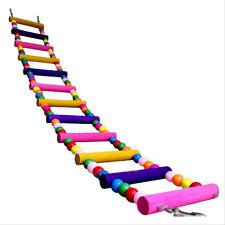 VOGEL HAUSTIER Papagei Leiter Spielen Spielzeug Holzern Brücke Klettern