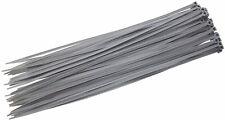 Envoltura de cable de lazos de Cables de Nylon Cremallera Lazos De Plata 370 X 4.8 elegir cantidad