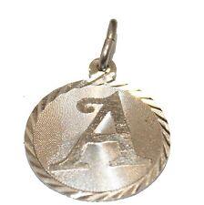 Initial Letter Necklace - A B D E F G H I J K L N O P Q R S T U V W X Y Z Silver