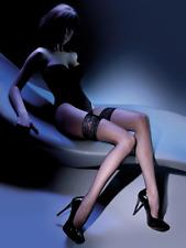 Bas résille autofixant femme sexy jarretière dentelle Gabriella Calze 151