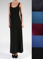 NEW Plus Size Long Full Length Basic Solid Maxi Tank Dress- XL/1X-2X-3X-4X