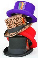 3bee8c67318f15 Maz 100% Black Wool Felt Top Hat New