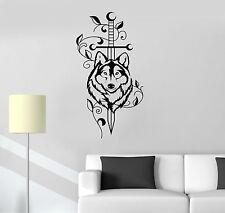 Vinyl Decal Sword Wolf Animal Predator Tribal Decor Wall Stickers Mural (ig3527)