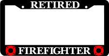 RETIRED FIREFIGHTER FIREMAN  License Plate Frame