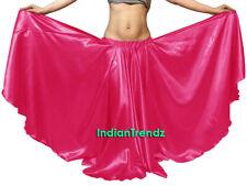 Deep Pink - Satin 16 Yard Double Circle Skirt Belly Dance Gypsy Tribal Flamenco