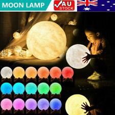 3D Magical Moon Lamp Dimmable USB LED Night Light Moonlight Touch Sensor 8-20cm
