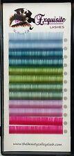 Spring Cool Color Silk Lashes B/C Curl .15mm/.20mm Eyelash Extension