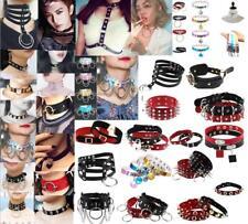 Sexy Punk Pendants Lady PU Choker Chain Spike Buckle Collar Hooligan Necklace