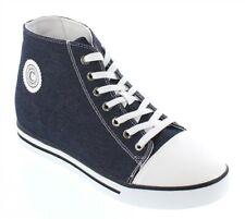 CALDEN K8828103 - 3 Inches Elevator Height Increase Canvas Blue Cap Toe Sneaker