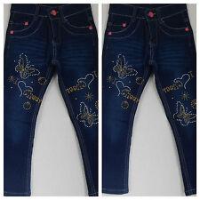 """Jeans,Jeanshose,Mädchen,Kinder,Gr.86,92,98,110,116,122,134,146""""Schmetterling"""""""