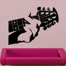 Minaccia & dito Vinile Adesivo a parete arte Musicale musica strumento DECOR