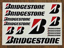 BRIDGESTONE STICKER SETS - SHEET OF 14 STICKERS - DECALS - Motorcycling