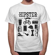 T-Shirt homme Hipster Accessoires Drôle Idée Cadeau