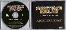 GHOSTFACE KILLAH ft NE-YO Back Like That UK 4tk promo CD Kanye West Wu-Tang Clan