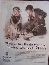 1925 Allen A Triple Knee Boy Stockings Advertisement Andrew Loomis Illustration