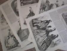 Paris Fashions 1864 old prints