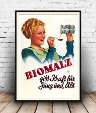 Biomalz : Reproduction  German cycle advertising  , poster, Wall art.