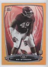 2014 Bowman Rookies Orange Foil #15 Ed Stinson Arizona Cardinals Football Card