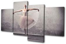 Performing Ballerina Dancer  MULTI DOEK WALL ART foto afdrukken