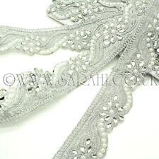 Apliques de piedra de diamante de imitación de perlas de plata, ribete Motif,, recorte, Lentejuelas, perlas