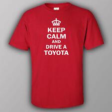 Funny T-shirt KEEP CALM AND DRIVE A TOYOTA JDM drift Celica Supra Trueno RAV4