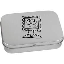 'Cute Postage Stamp' Metal Hinged Tin / Storage Box (TT025408)