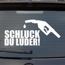 Auto Aufkleber Schluck du Luder Heckscheibe Sticker Folie