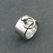 Anillo de la o dedos anillo de acero inoxidable plata ancha sklavenring BDSM joyas sacaste 032