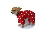 Dog Chihuahua  Pyjamas PJ Fleece pullover   XXS- L  Red spots