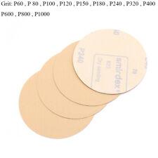 5'' 125mm Sanding Disc Hook & Loop Sand Paper Sander Pads 60 - 1000 Grit Yellow
