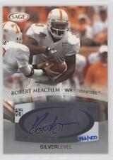 2007 SAGE Autographed Football Autographs Silver #A34 Robert Meachem Auto Card