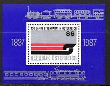 Austria 1987 Railroads Mi. Block 9 MNH