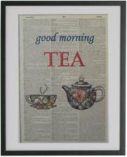 Tea Print No.24, dictionary print, kitchen wall decor, tea cup, tea pot