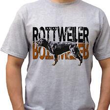 Rottweiler logo - grey t shirt top rott tee rottie dog design - mens sizes