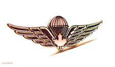 CANADA ARMY Canadian Airborne Regiment  Parachutist  White Maple Lapel Pin